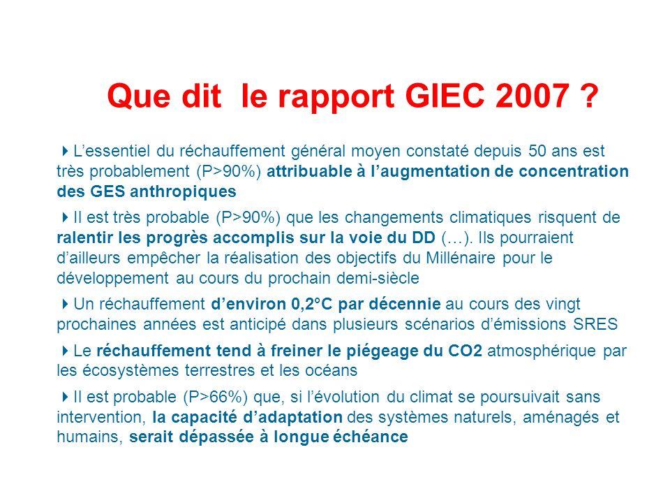 Que dit le rapport GIEC 2007