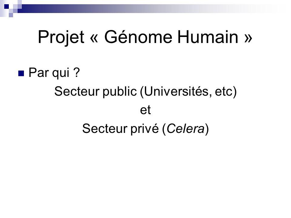 Projet « Génome Humain »