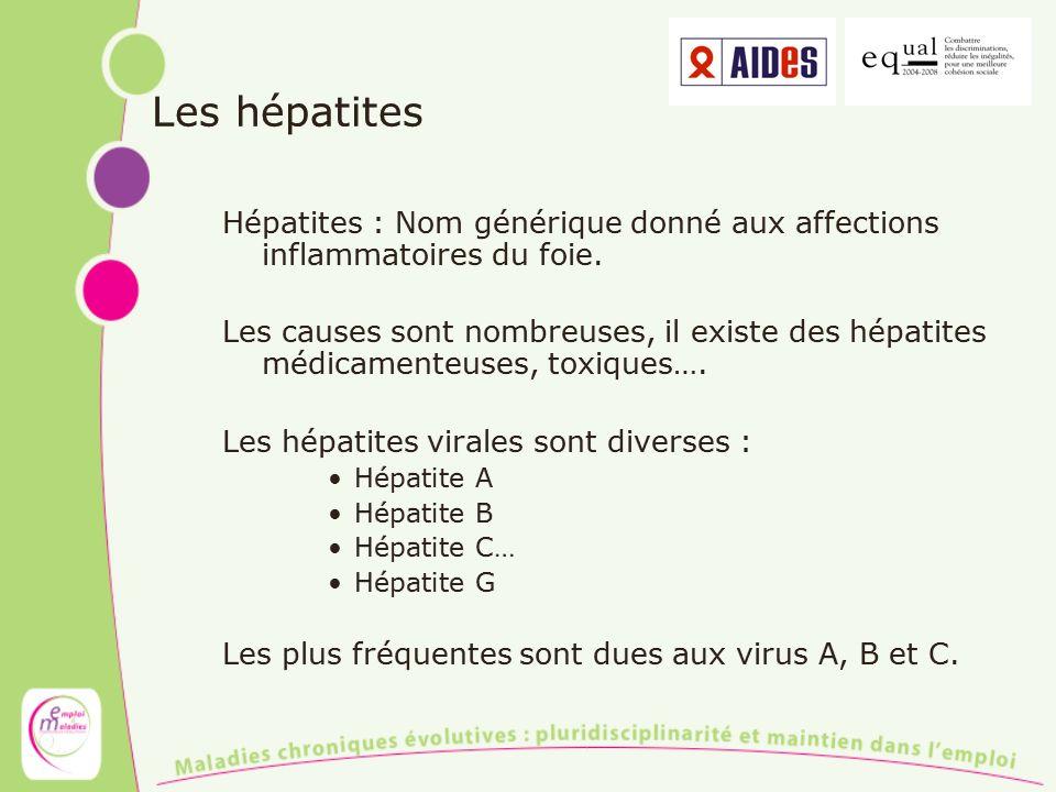 Les hépatites Hépatites : Nom générique donné aux affections inflammatoires du foie.