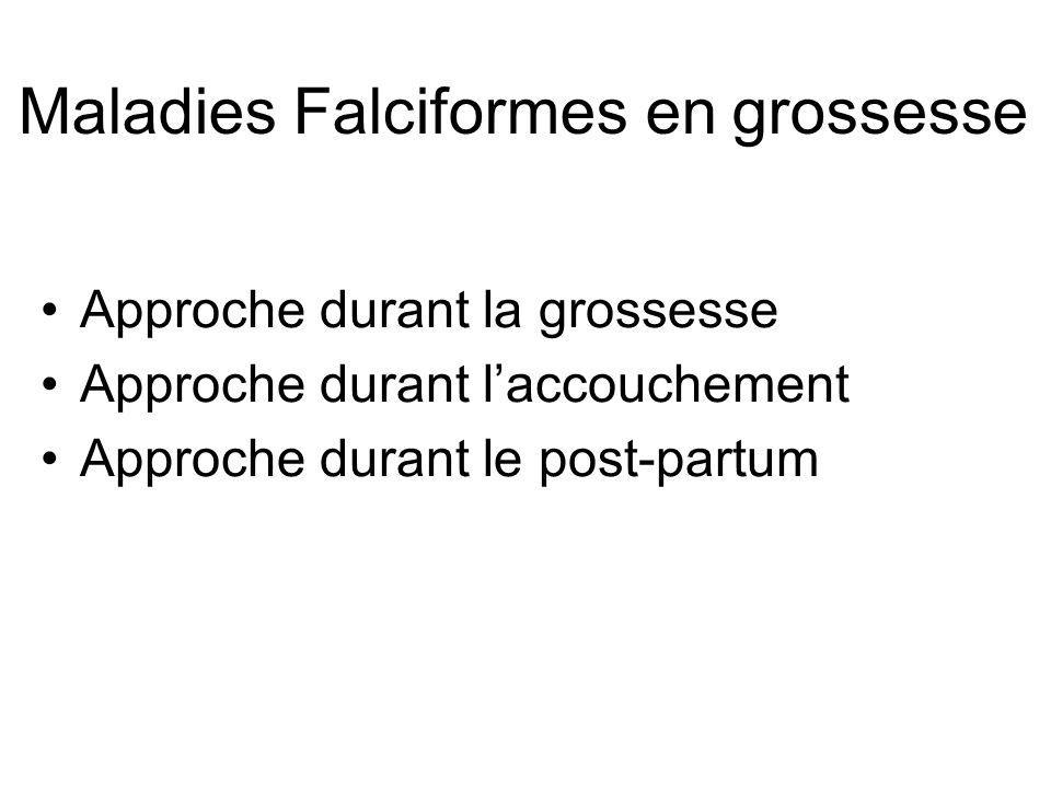 Maladies Falciformes en grossesse