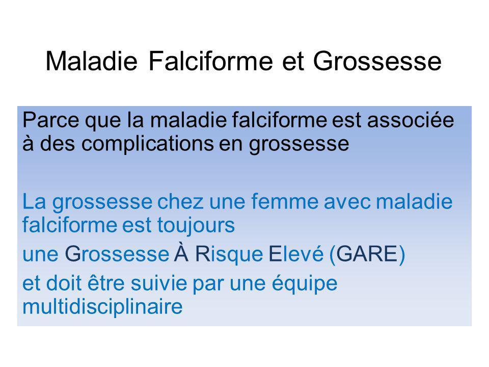 Maladie Falciforme et Grossesse