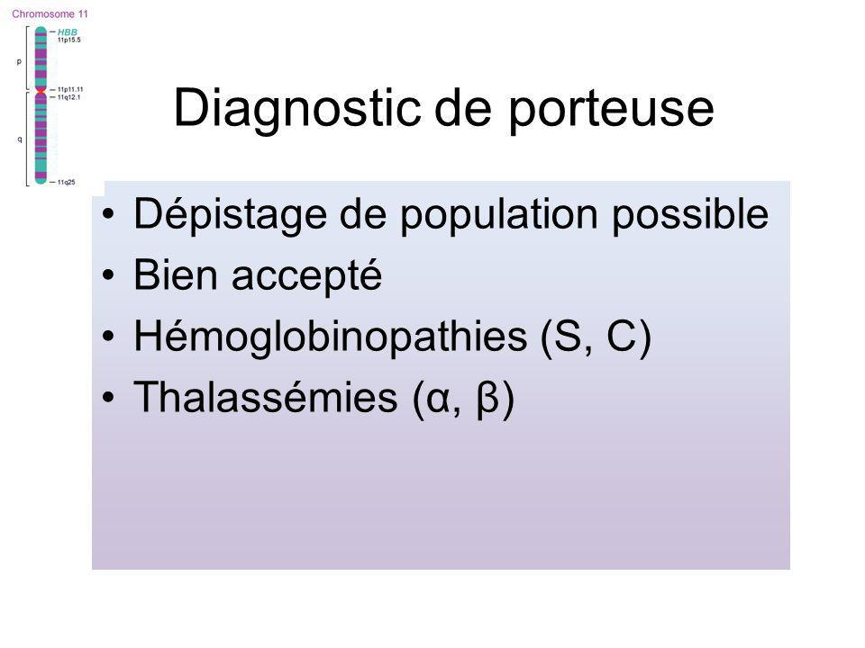 Diagnostic de porteuse