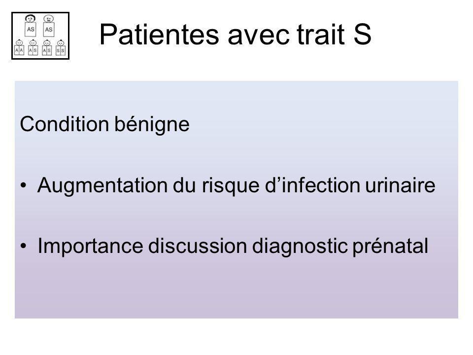 Patientes avec trait S Condition bénigne