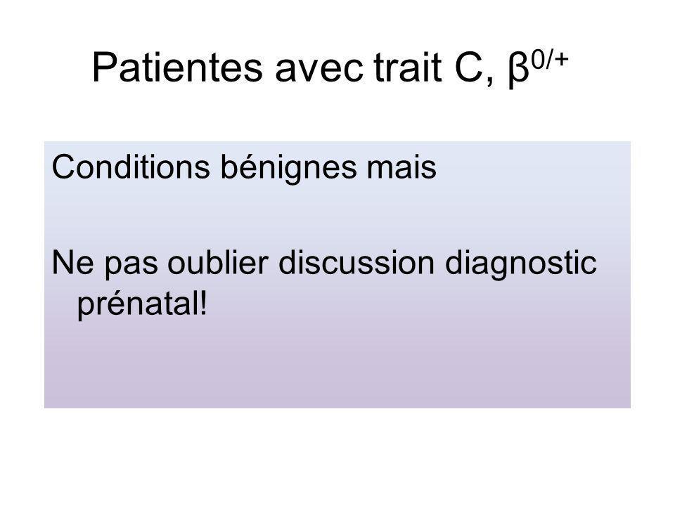 Patientes avec trait C, β0/+
