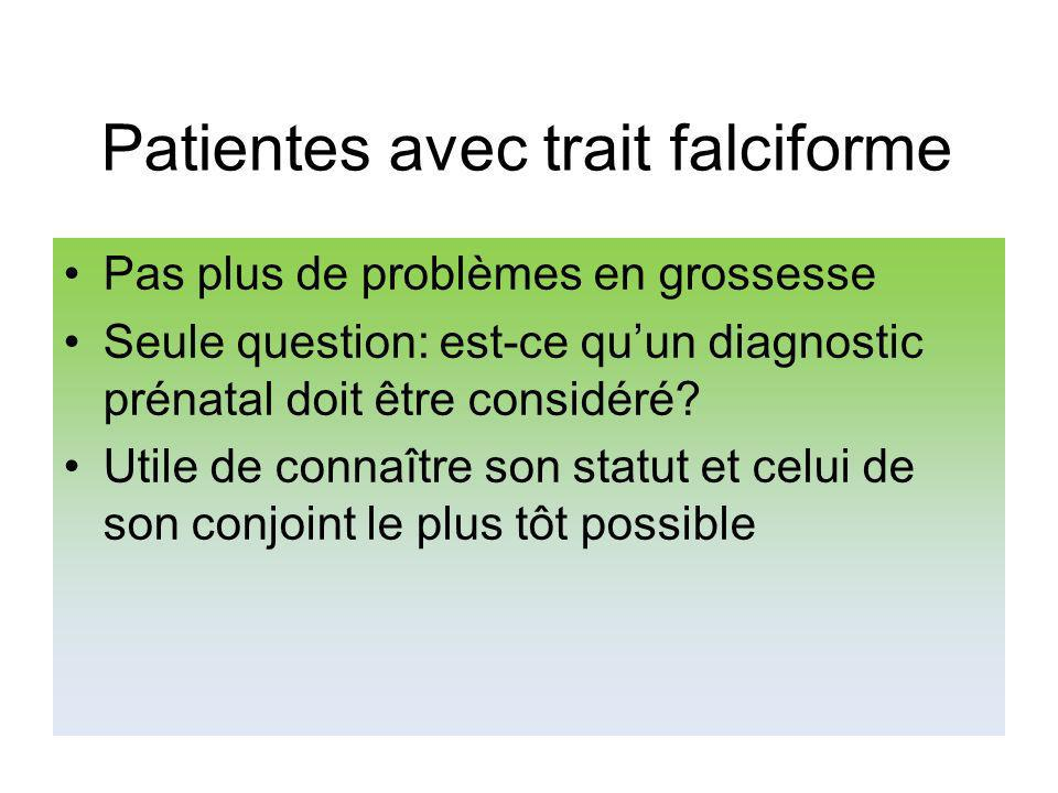 Patientes avec trait falciforme