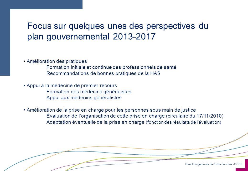 Focus sur quelques unes des perspectives du plan gouvernemental 2013-2017