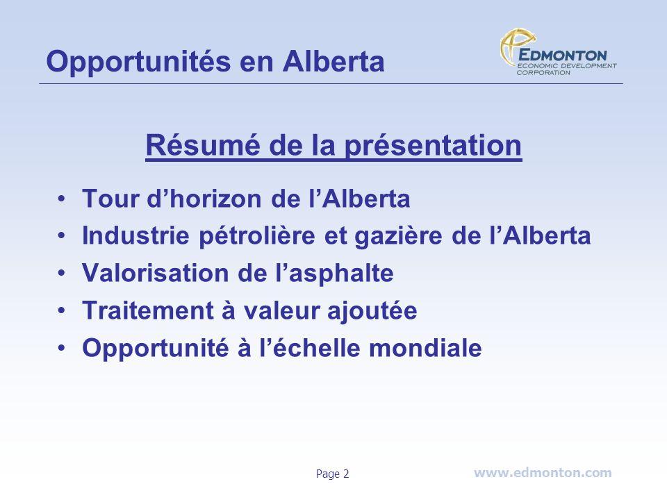 Opportunités en Alberta