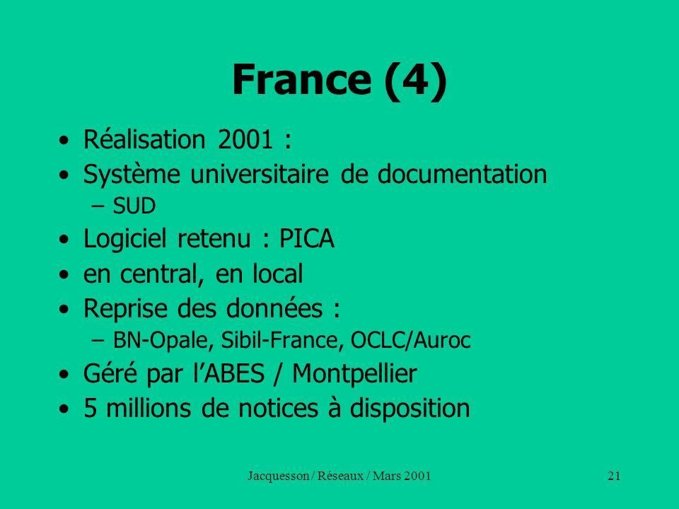 Jacquesson / Réseaux / Mars 2001