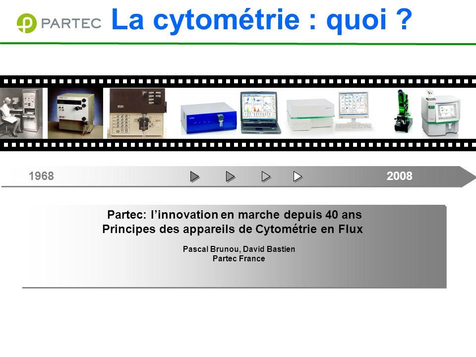 La cytométrie : quoi 1968 2008. Partec: l'innovation en marche depuis 40 ans.