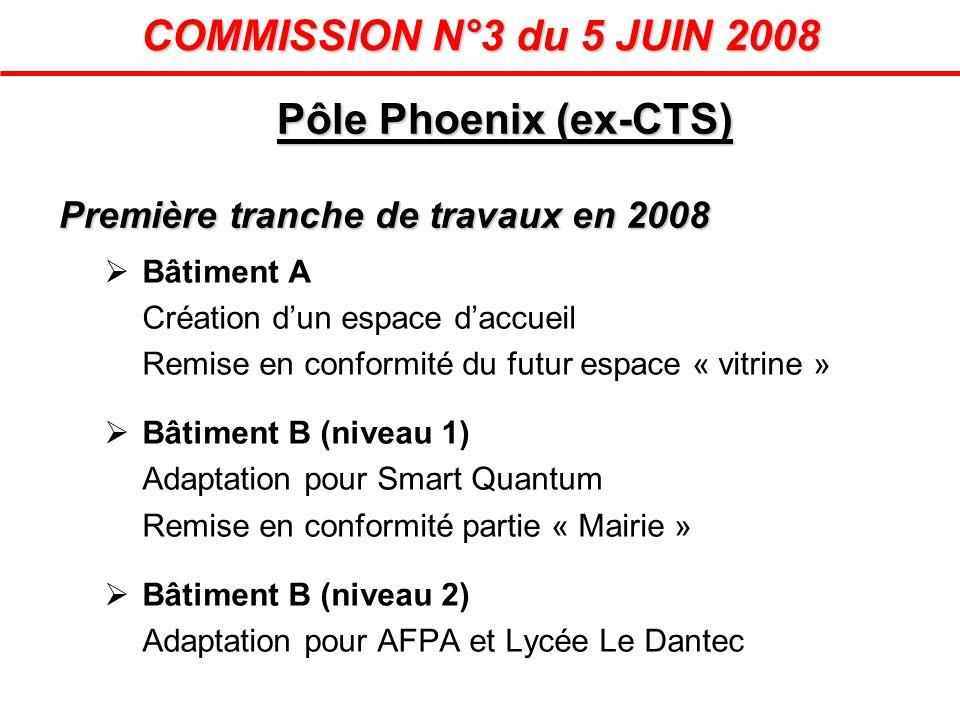 COMMISSION N°3 du 5 JUIN 2008 Pôle Phoenix (ex-CTS)