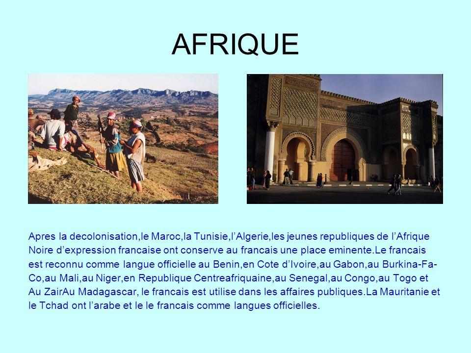 AFRIQUE Apres la decolonisation,le Maroc,la Tunisie,l'Algerie,les jeunes republiques de l'Afrique.