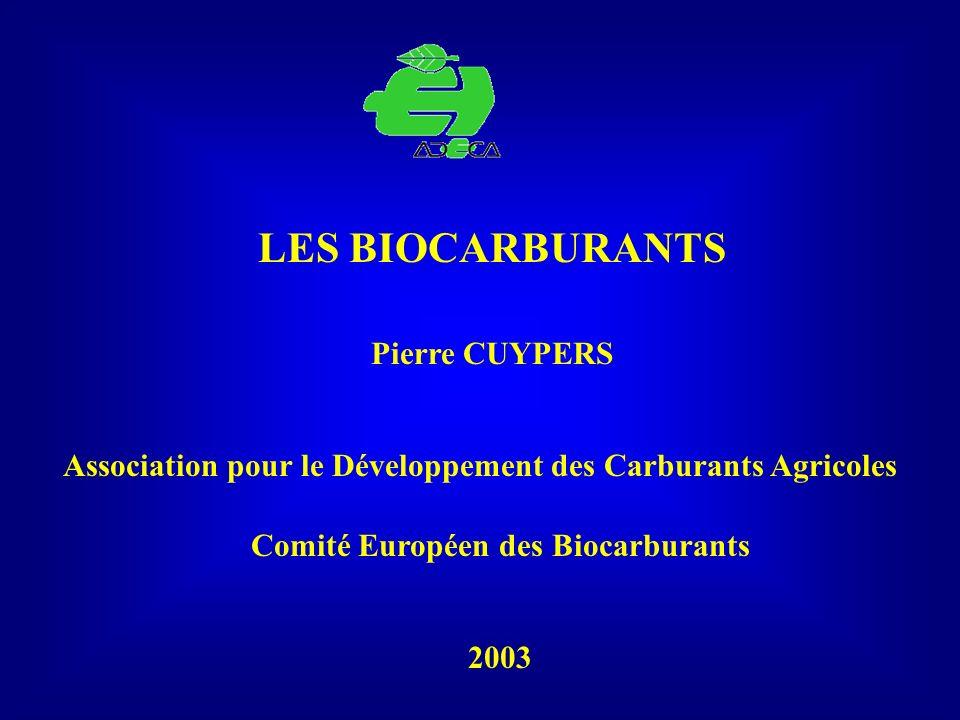LES BIOCARBURANTS Pierre CUYPERS
