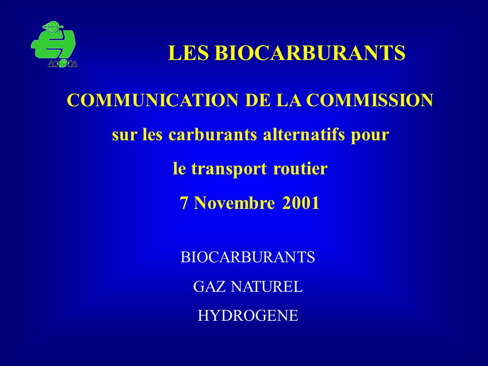 COMMUNICATION DE LA COMMISSION sur les carburants alternatifs pour