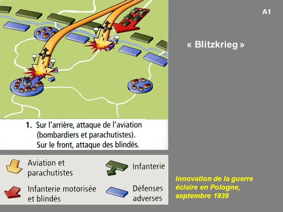 A1 « Blitzkrieg » Innovation de la guerre éclaire en Pologne, septembre 1939