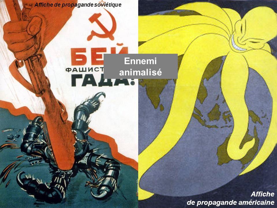 Ennemi animalisé Affiche de propagande américaine