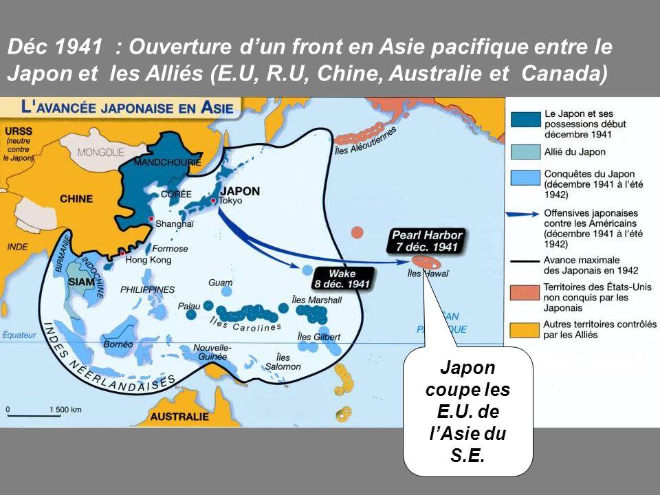 Japon coupe les E.U. de l'Asie du S.E.