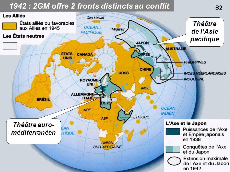 1942 : 2GM offre 2 fronts distincts au conflit