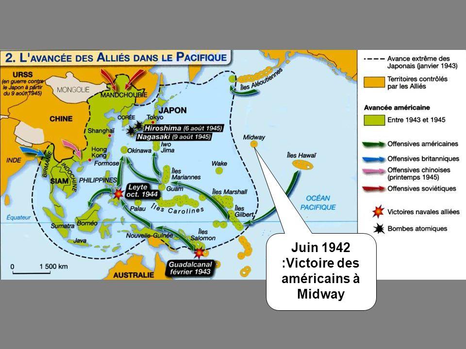 Juin 1942 :Victoire des américains à Midway