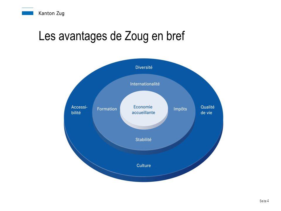 Les avantages de Zoug en bref