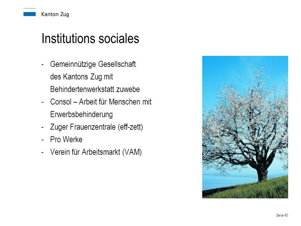 Institutions sociales
