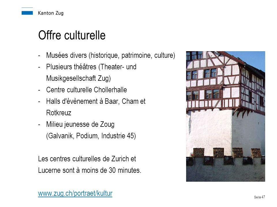 Offre culturelle Musées divers (historique, patrimoine, culture)