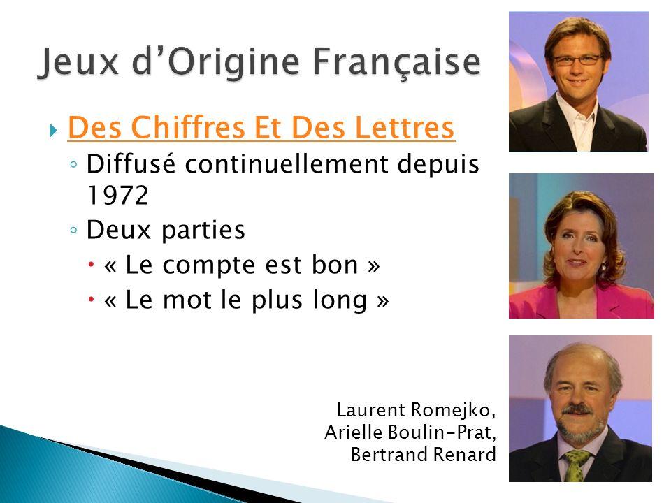 Jeux d'Origine Française