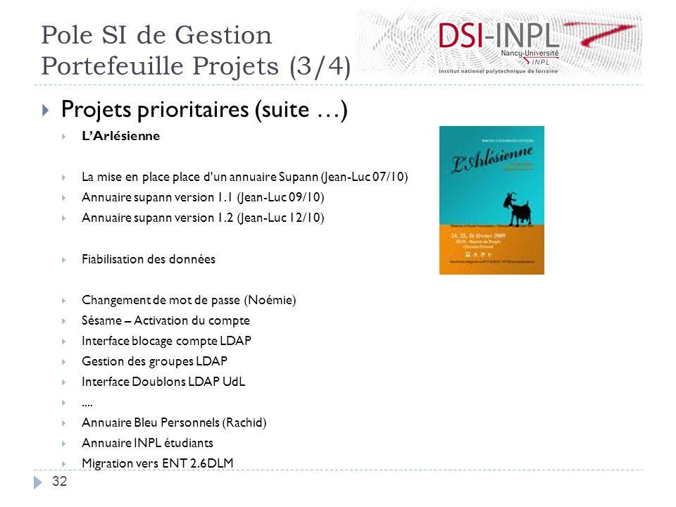 Pole SI de Gestion Portefeuille Projets (3/4)