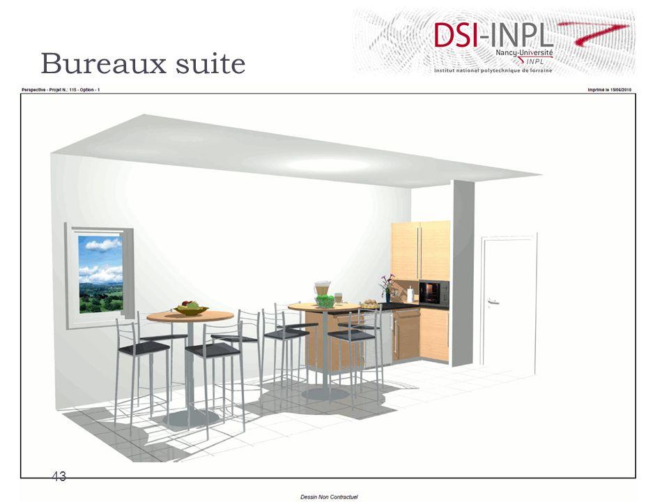 Bureaux suite Cafétéria