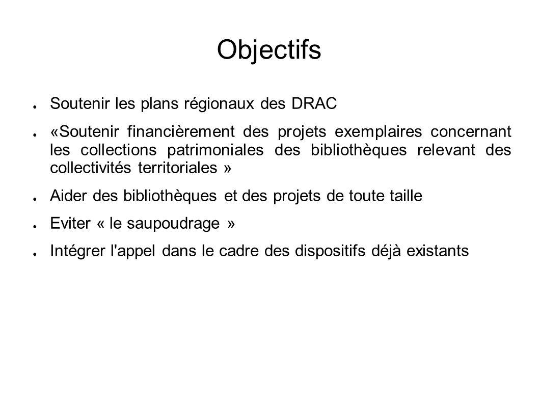 Objectifs Soutenir les plans régionaux des DRAC