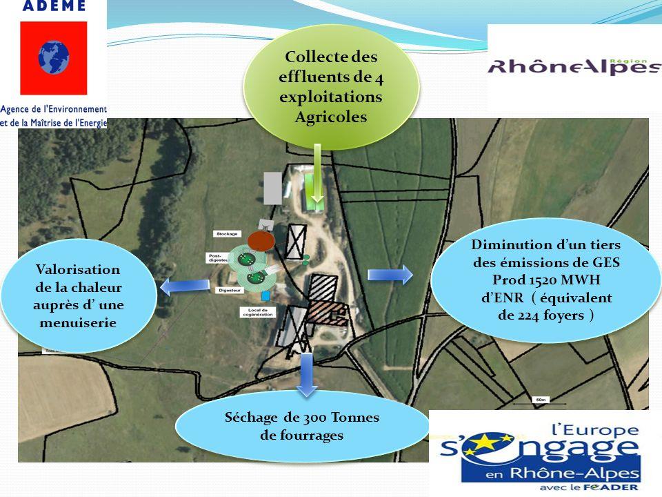 Collecte des effluents de 4 exploitations Agricoles