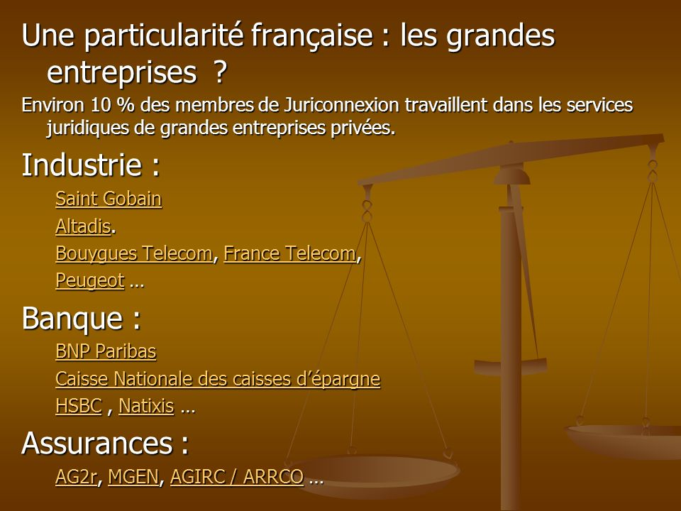 Une particularité française : les grandes entreprises