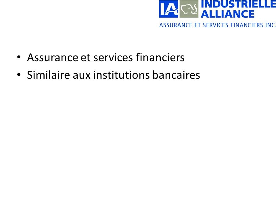 Assurance et services financiers