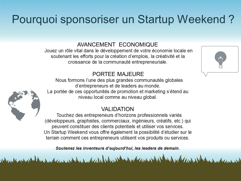Pourquoi sponsoriser un Startup Weekend
