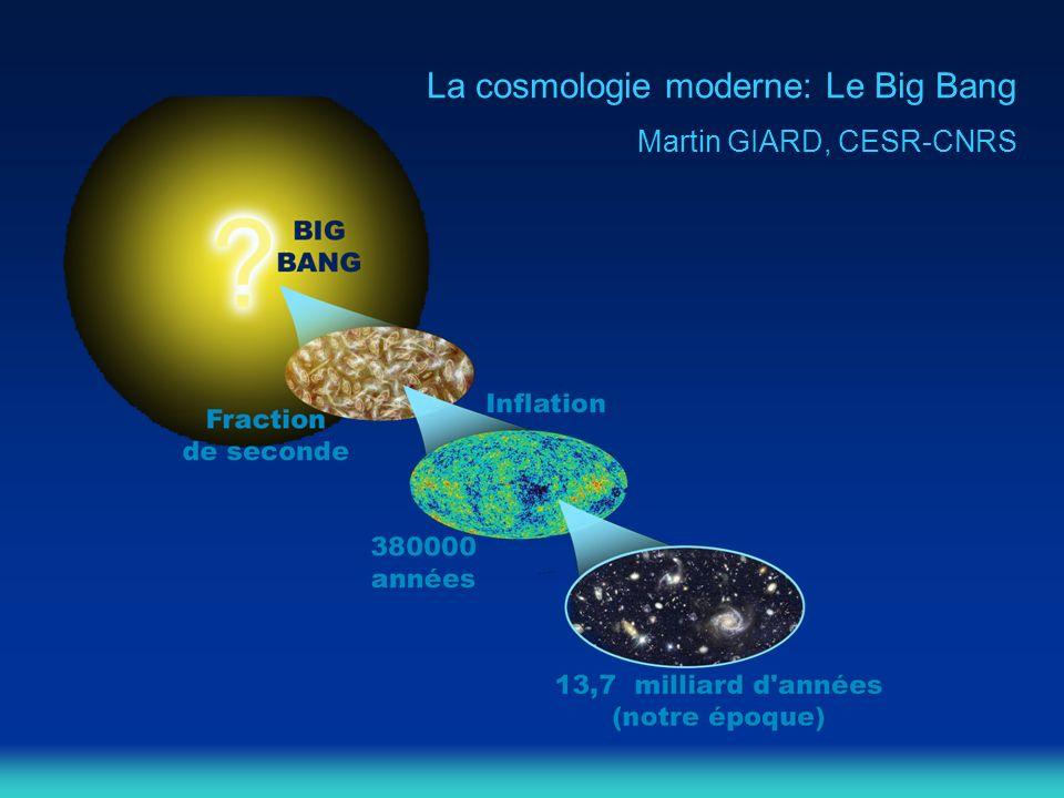 La cosmologie moderne: Le Big Bang