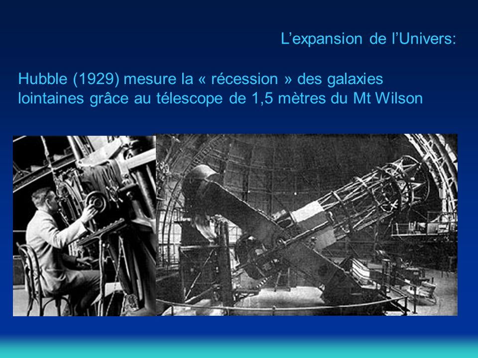 L'expansion de l'Univers:
