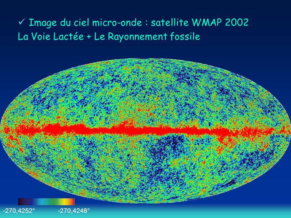 Image du ciel micro-onde : satellite WMAP 2002