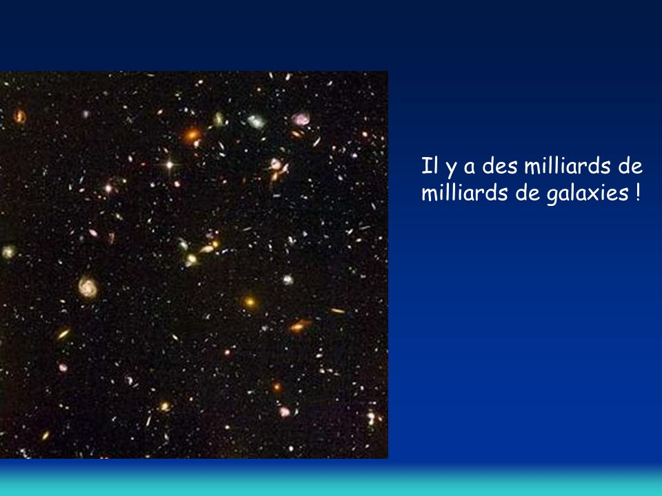 Il y a des milliards de milliards de galaxies !