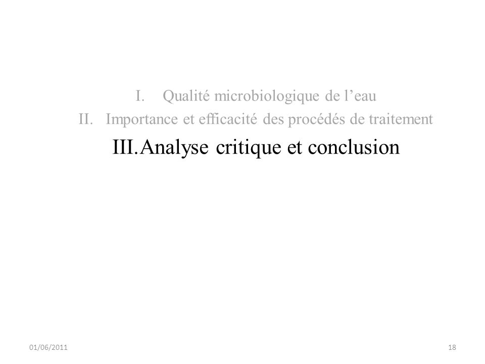 Analyse critique et conclusion