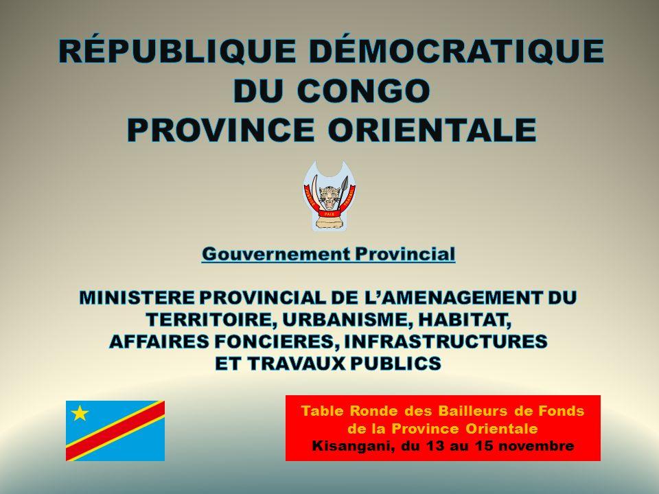 RÉPUBLIQUE DÉMOCRATIQUE DU CONGO PROVINCE ORIENTALE
