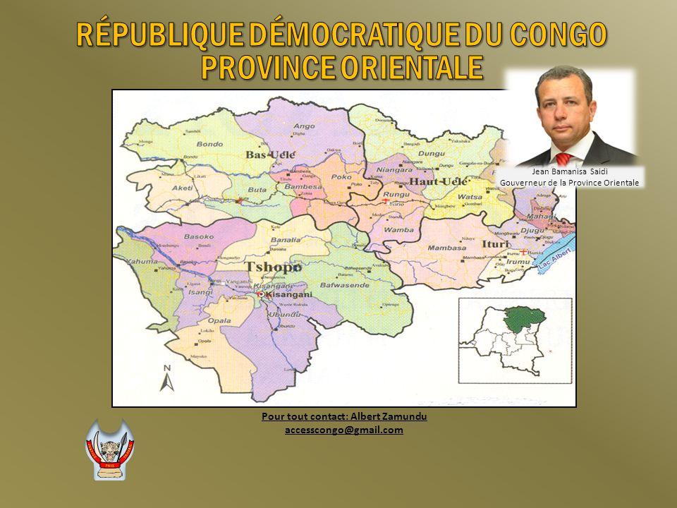 RÉPUBLIQUE DÉMOCRATIQUE DU CONGO Pour tout contact: Albert Zamundu