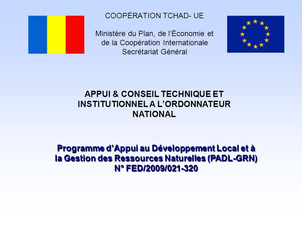 APPUI & CONSEIL TECHNIQUE ET INSTITUTIONNEL A L'ORDONNATEUR NATIONAL