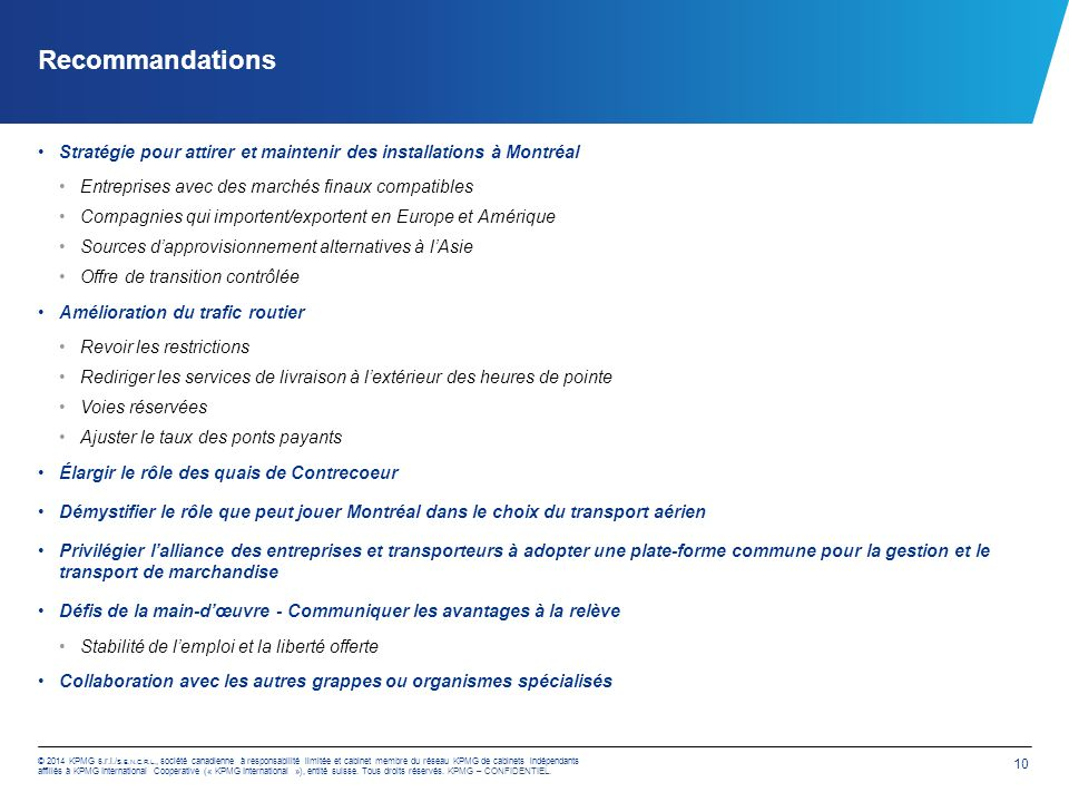 KPMG – CONFIDENTIEL