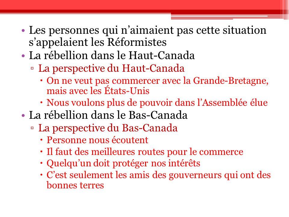 La rébellion dans le Haut-Canada