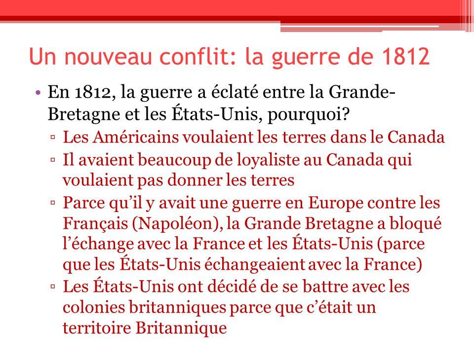 Un nouveau conflit: la guerre de 1812