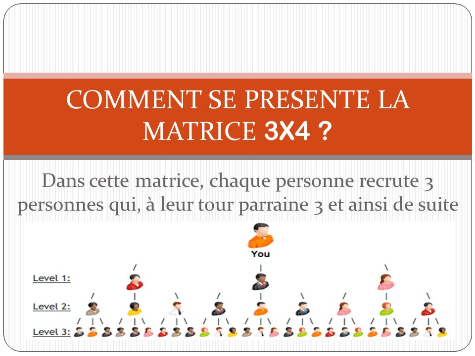 COMMENT SE PRESENTE LA MATRICE 3X4