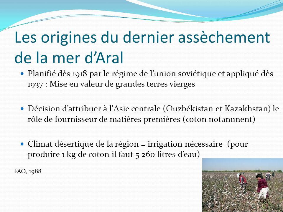 Les origines du dernier assèchement de la mer d'Aral