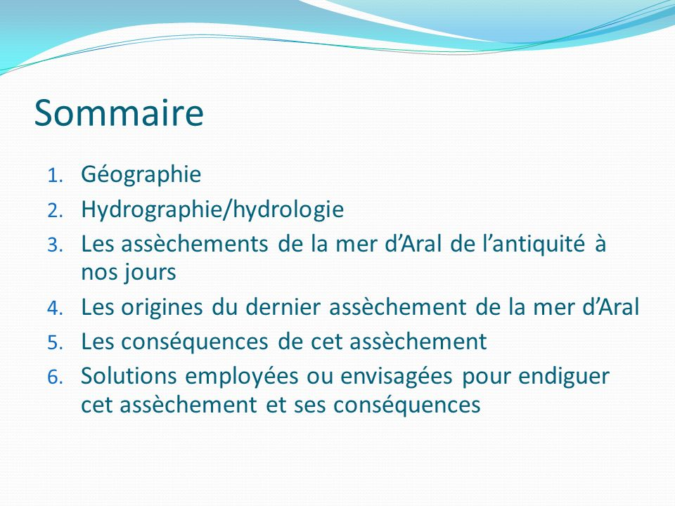 Sommaire Géographie Hydrographie/hydrologie
