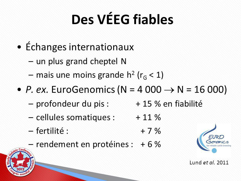 Des VÉEG fiables Échanges internationaux