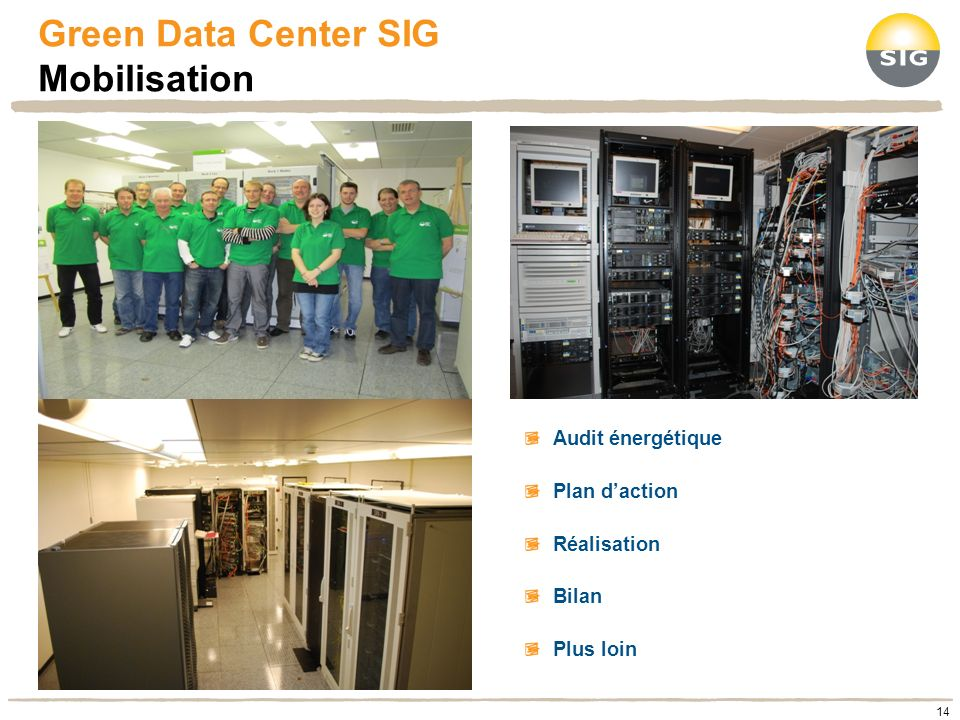 Green Data Center SIG Mobilisation