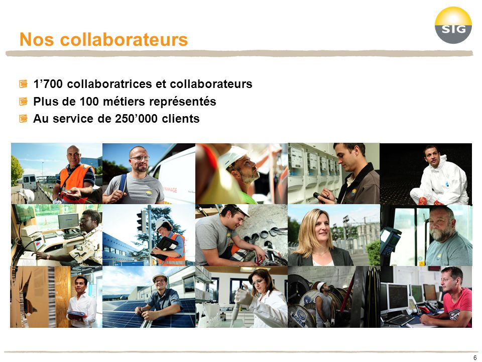 Nos collaborateurs 1'700 collaboratrices et collaborateurs